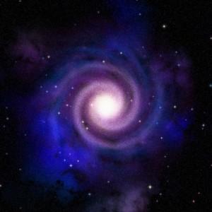 Spiral galaxy top view